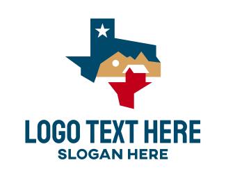 Texas - Texas Realty House logo design