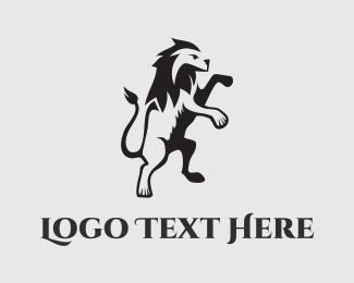 Tiger - Lion Stand logo design