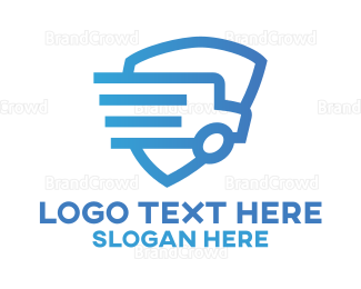 School Bus - Bus Protection logo design