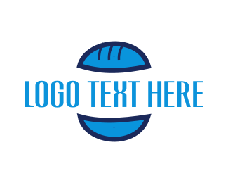 Burger - Blue Burger Bun logo design