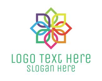 Blossom - Rainbow Flower logo design