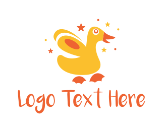 Maternity - Cute Playful Duckling logo design