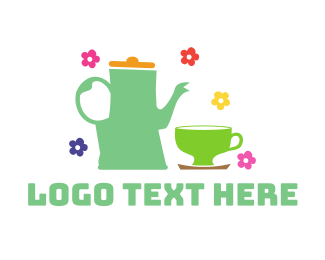Ice Tea - Floral Tea logo design