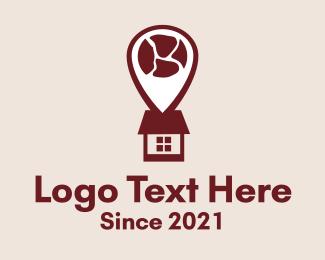 Pork - Butcher Meat House logo design