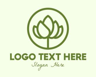 Flower Store - Elegant Flower Bud logo design