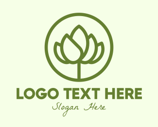 Blooming - Elegant Flower Bud logo design