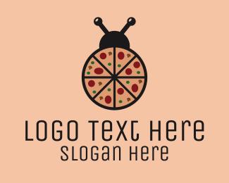 Ladybug - Pizza Bug logo design