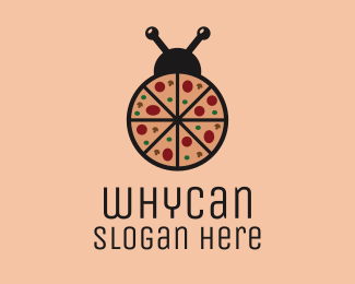 Bug Pizza Bug logo design