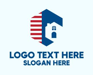 Stripes - Hexagon House Stripes logo design