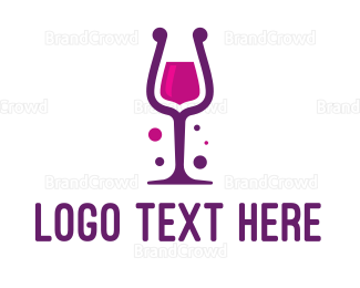 Cheers - Purple Wine Glass logo design