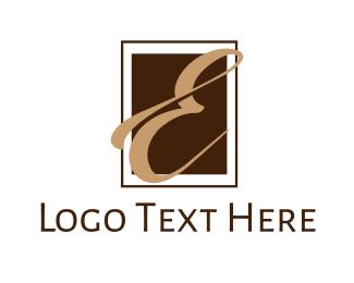 """""""Elegant Letter E"""" by eightyLOGOS"""