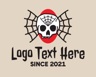 Tattoo Collective - Traditional Skull Web Tattoo logo design