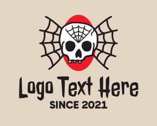 Tattoo - Traditional Skull Web Tattoo logo design