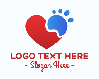 Pet Lover - Pet Lover Paw logo design