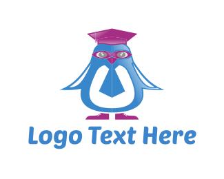 Penguin - Penguin Graduation logo design