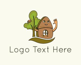 Glamping - Friendly House logo design