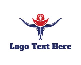 Texas - Bull Hat logo design