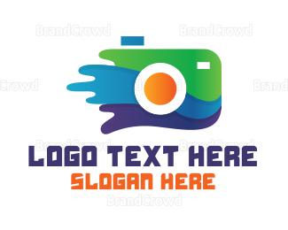 Painter - Camera Painting Photography logo design