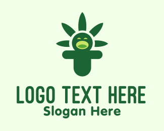 Jolly - Jolly Cannabis Person logo design