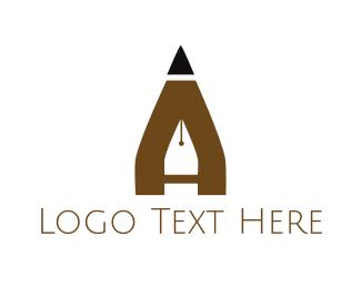 Quill - Pen & Pencil logo design
