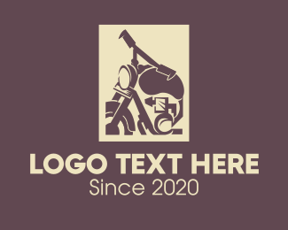 Riding - Vintage Motorbike logo design