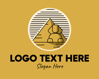 Explore - Egyptian Pyramid Sphinx logo design