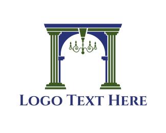 Column - Classic Chandelier logo design