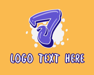 Lively - Blockbuster Graffiti Number 7 logo design