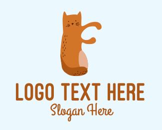 Playful - Playful Cat Letter F logo design