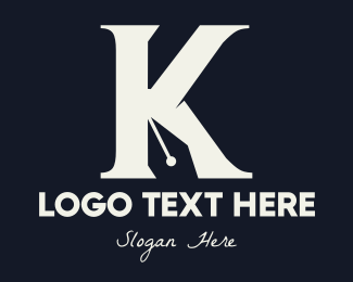Linguistic - Writing Pen Letter K logo design