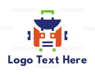 Droid - Robot Suitcase logo design