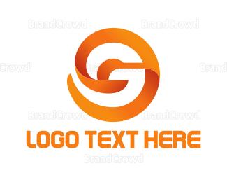 Globe - Modern Orange Letter G logo design