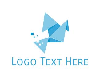 Design Studio - Origami Bird logo design