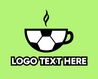 Coffee Store - Soccer Coffee Cafe logo design