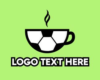 Goal - Soccer Ball Coffee Cafe logo design