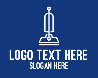 Vacuum Cleaner - White Modern Vacuum Cleaner  logo design