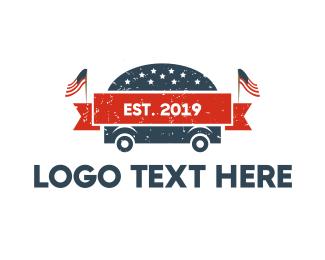 President - American Burgers logo design