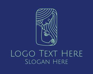 Pregnancy - Beautiful Maternity Woman logo design