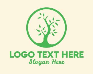Green Living - Plant Growth logo design