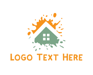 Residential Construction - House Paint logo design