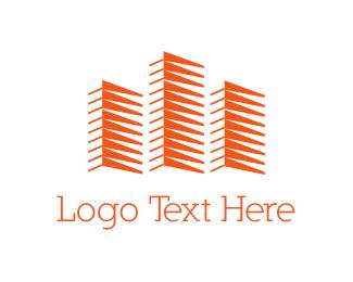 Warehouse - Orange Buildings logo design
