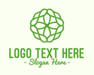 Cell - Green Organic Pattern logo design