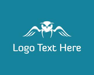 Wings - White Owl logo design