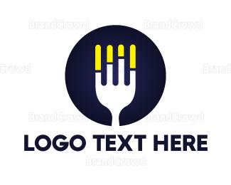 Meal - Fork Statistics  logo design