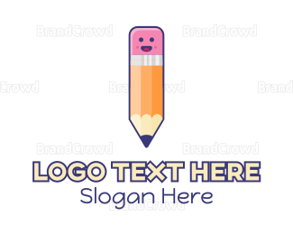 Exclamation Mark - Childish Pencil logo design