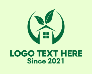 Real Estate - Green Eco Real Estate logo design