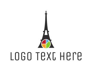France Map - Eiffel Chart logo design