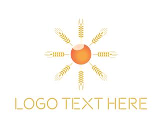 Crop - Sun Crop logo design