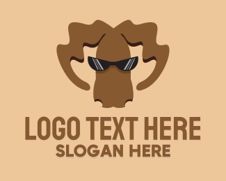 Elk - Cool Brown Moose logo design