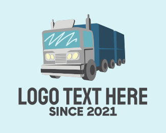 Trucking Service - Long Haul Truck  logo design